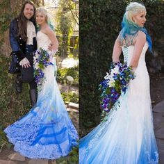 Fabulous Sweetheart Sweep Train Wedding Dress with Beading Lace Colored