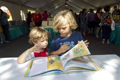 """""""The Texas Book Festival headlines a fun-filled weekend in Austin with its annual two-day gathering of literary authors and lovers of the written word. Last year, Felix Halloran, right, reads to his little brother Wylie, under the Children's Tent. Weekend In Austin, Children's Choice, Book Festival, Who Will Win, Bibliophile, Authors, Shark, Tent, Brother"""
