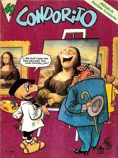 Cover for Condorito series) Magazines For Kids, Comic Art, Author, Cover, Books, Anime, Mona Lisa, Lp, Cartoons