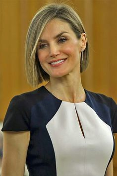 Queen Letizia attends audiences at Zarzuela Palace on May 18, 2015 in Madrid, Spain.