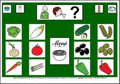 MATERIALES - Tableros de Comunicación de 12 casillas.    Tablero de comunicación de doce casillas sobre alimentos: ensalada.     http://arasaac.org/materiales.php?id_material=224