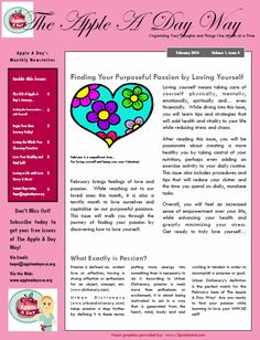 The Apple A Day Way Monthly Newsletter on Pinterest