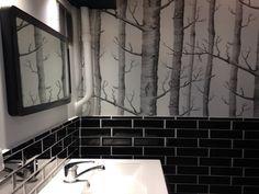 Une salle de bain en noir et blanc par notre agence de Haute-Normandie