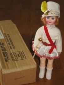 Blue Bonnet Majorette Vintage Plastic Doll