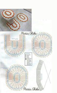 best 12 her crochet Crochet Daisy, Crochet Owls, Crochet Motif, Crochet Doilies, Crochet Stitches, Free Crochet, Crochet Patterns, Crochet Carpet, Bathroom Crafts