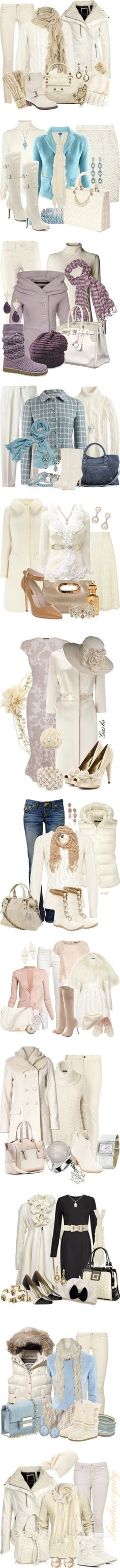 """""""The Stunning Beauty of Winter White"""" by stylesbyjoey ❤ liked on Polyvore"""