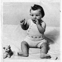 Vintage Knitted Baby Soakers with Bib Pattern