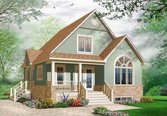 Cozy Cottage with Covered Porch - 21735DR | 1st Floor Master Suite, CAD Available, Canadian, Metric, PDF, Photo Gallery, Traditional | Architectural Designs