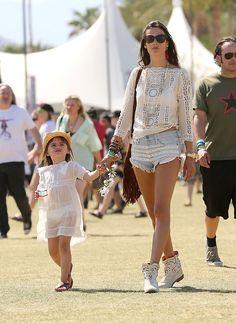 Ambrosio e Anja no Coachella (Foto: Grosby Group)