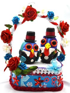 Civil ceremony cake topper wedding cake Topper by Embellishanevent, $100.00