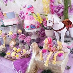 Rapunzel Tangled Themed Birthday Party