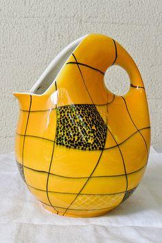 West German Vase - Elfie Stadler - Schramberg Elfie Stadler worked for the company from 1953 till 1963.
