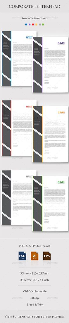 Corporate Business Letterhead 02 Letterhead, Corporate business - business letterhead