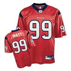 Reebok Houston Texans J.J. Watt 99 Red Authentic Jerseys Sale