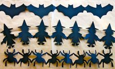 Halloween paper chains on Kidspot  Perfect rainy day activity and practice using scissors :)