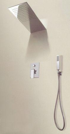 Hlavová sprcha, 554x204x8,5 mm, leštěná nerez
