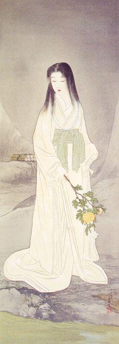 :Japanese art - anyone know the artist? Japanese Art Modern, Japanese Prints, Japanese Culture, Yuki Onna, Art Occidental, Polynesian Art, Historical Art, Japanese Painting, Japan Art