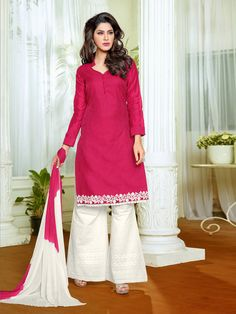 Page 3 of Cotton-salwar-kameez Cotton Salwar Kameez, Indian Salwar Kameez, Punjabi Salwar Suits, Anarkali Suits, Palazzo Suit, Bollywood Dress, Pakistani Designers, Tunic Tops, Formal Dresses