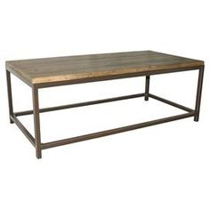 Fir wood coffee table with a medium oak finish.   Product: Coffee tableConstruction Material: Fir woodColor: Medium oakFeatures:   Great place for anything from magazines to decorative piecesWill enhance any setting Dimensions: 17.7 H x 48 W x 24 D