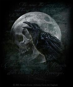 Raven's Curse ~ Alchemy Gothic art