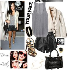 """Dress Like Demi Lovato"" by kendraaaalaaaake ❤ liked on Polyvore"