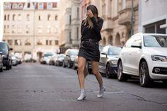 graue Stiefel Gucci Dyonisus Lederrock-Samsoe Samsoe Topshop Boots…
