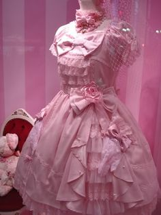 Pretty in pink Rococo Fashion, Lolita Fashion, Pink Fashion, Funky Dresses, Cute Dresses, Dressing, Pretty And Cute, Pretty In Pink, Moda Lolita