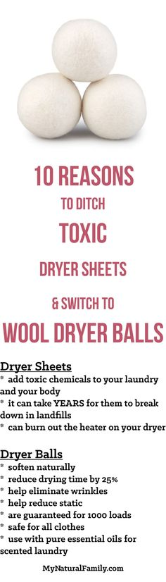 10 Reasons to Ditch Toxic Dryer Sheets & Switch to Wool Dryer Balls