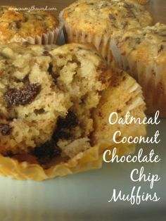 Oatmeal Coconut Chocolate Chip Muffins - NumsTheWord