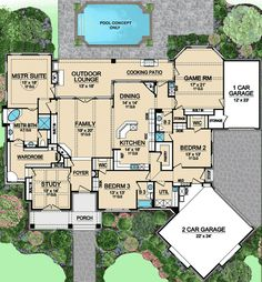 Game Room Floor Plans Smart Design Ideas For Underused Basements HGTV's . Cool Basement Ideas To Inspire Your Next Design Project. How To Transform Your Attic Into A Fun Game Room. Home Design Ideas Luxury Floor Plans, Luxury House Plans, Dream House Plans, House Floor Plans, Luxury Houses, Dream Houses, Master Suite, Garage Game Rooms, Car Garage