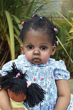 Reborn AA Ethnic Black Toddler Doll By Katie Messou Sculpt Tibby by Donna Rubert