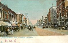 TN, Chattanooga, Tennessee, Market Street, Looking North, Tuck No 2176