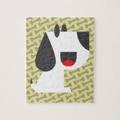 Bark Bark (Yellow) - Puzzle - home gifts ideas decor special unique custom individual customized individualized