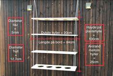 Hvordan lage plantehylle selv - Byggmakker Diy, Terrace, Bricolage, Do It Yourself, Fai Da Te, Diys
