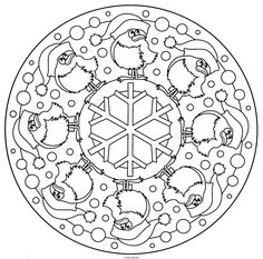 coloring page Mandala Christmas on Kids-n-Fun. Coloring pages of Mandala Christmas on Kids-n-Fun. More than coloring pages. At Kids-n-Fun you will always find the nicest coloring pages first! Snowflake Coloring Pages, Easy Coloring Pages, Mandala Coloring Pages, Christmas Coloring Pages, Coloring Pages To Print, Free Printable Coloring Pages, Coloring Sheets, Coloring Books