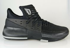 buy popular 5b40b b1e16 BY3206 Mens Adidas Dame 3 Damian Lillard Basketball Sneaker - Black  eBay  Black