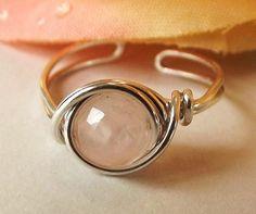 Rose Quartz Toe Ring...gorgeous :)  Toe rings can alse be worn as ear cuffs.
