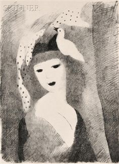 Colombine By Marie Laurencin ,1928