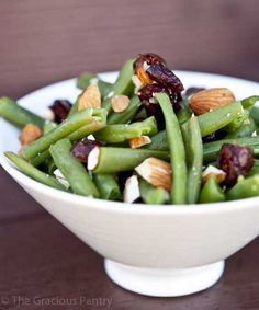 Clean Eating Cranberry Green Bean Salad.  Follow Us for more healthy recipes! www.SportsNutritionMarket.com