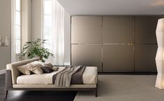 Contemporary lacquered wardrobe with sliding doors Wardrobe Interior Design, Wardrobe Design Bedroom, Furniture Decor, Modern Furniture, Sliding Door Wardrobe Designs, Glass Wardrobe, Wardrobe Cabinets, Fitted Wardrobes, Bespoke Design