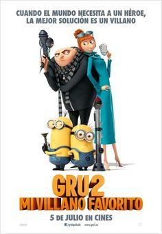#Gru2 #MiVillanoFavorito #Estrenos de la cartelera de cine española del 5 de Julio de 2013. Pincha en el cartel para ver el tráiler
