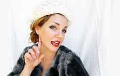 Vintage Ladies Hat, White Formal Hat; Vintage Ladies Fashion by zincfineart on Etsy