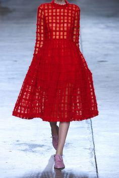 Simone Rocha|Wool-embroidered tulle dress|NET-A-PORTER.COM