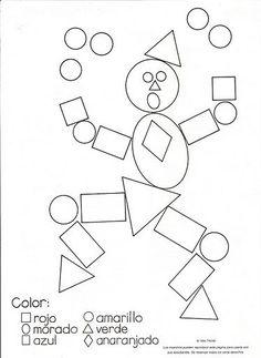 Dibujos y plantillas para gomets para niños Montessori Activities, Kindergarten Activities, Preschool Activities, Color Activities, Shapes Worksheets, Kids Math Worksheets, Decoration Cirque, Teaching Shapes, Math For Kids