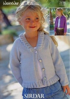 2175 CARDIGANS (AGES 1 - 12) @ patternfish $6