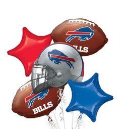 Buffalo Bills Balloon Bouquet 5pc
