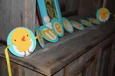 Ducky banner - love the circles
