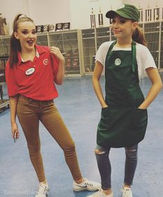 Kendall and Maddie on Halloween! I Love Target and Starbucks