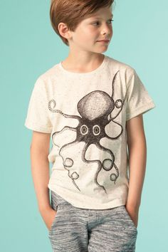 Norman T-shirt Octopus - Soft Gallery