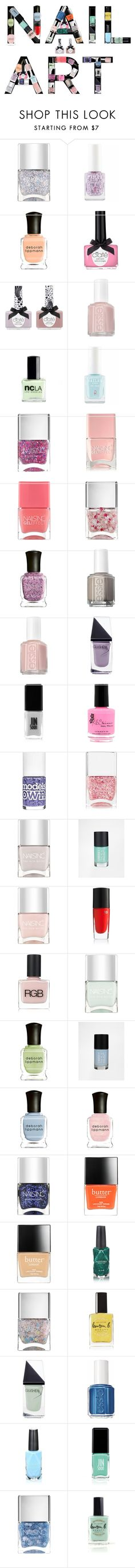 """Pastel Nail Polishes"" by cypressredwood ❤ liked on Polyvore featuring beauty, Nails Inc., Deborah Lippmann, Ciaté, Essie, ncLA, GUiSHEM, Jin Soon, Models Own and Cheeky"